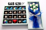 Spesifikasi Trulychoco Paket Chocogift And Bouquet Ulang Tahun Happy B Day I Love U Tutup Mika Blue Terbaik