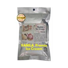 Vanilla Premix Ice Cream 250gr BUBBLE'S Bulky Instant Powder, Bahan Bubuk Es Krim Frizco