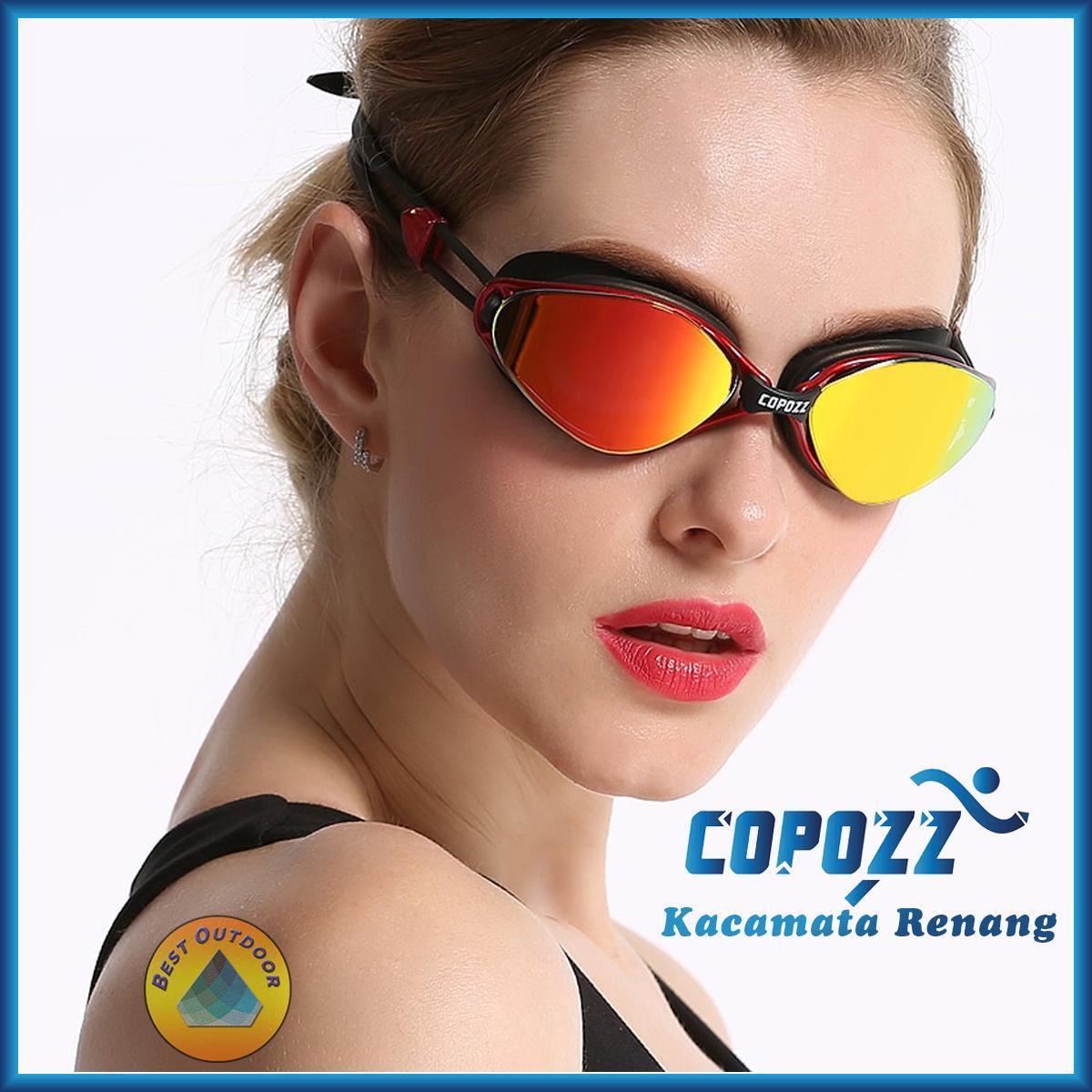 Kacamata Renang NEW Copozz Profesional Anti-Fog Perlindungan UV untuk Pria  dan Wanita Tahan Air d2bbf62709