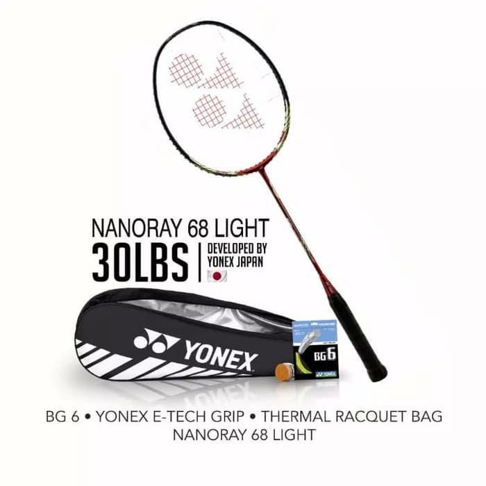 Terbaru - Raket Badminton Yonex Nanoray 68 Light Rudi Hartono - ready stock