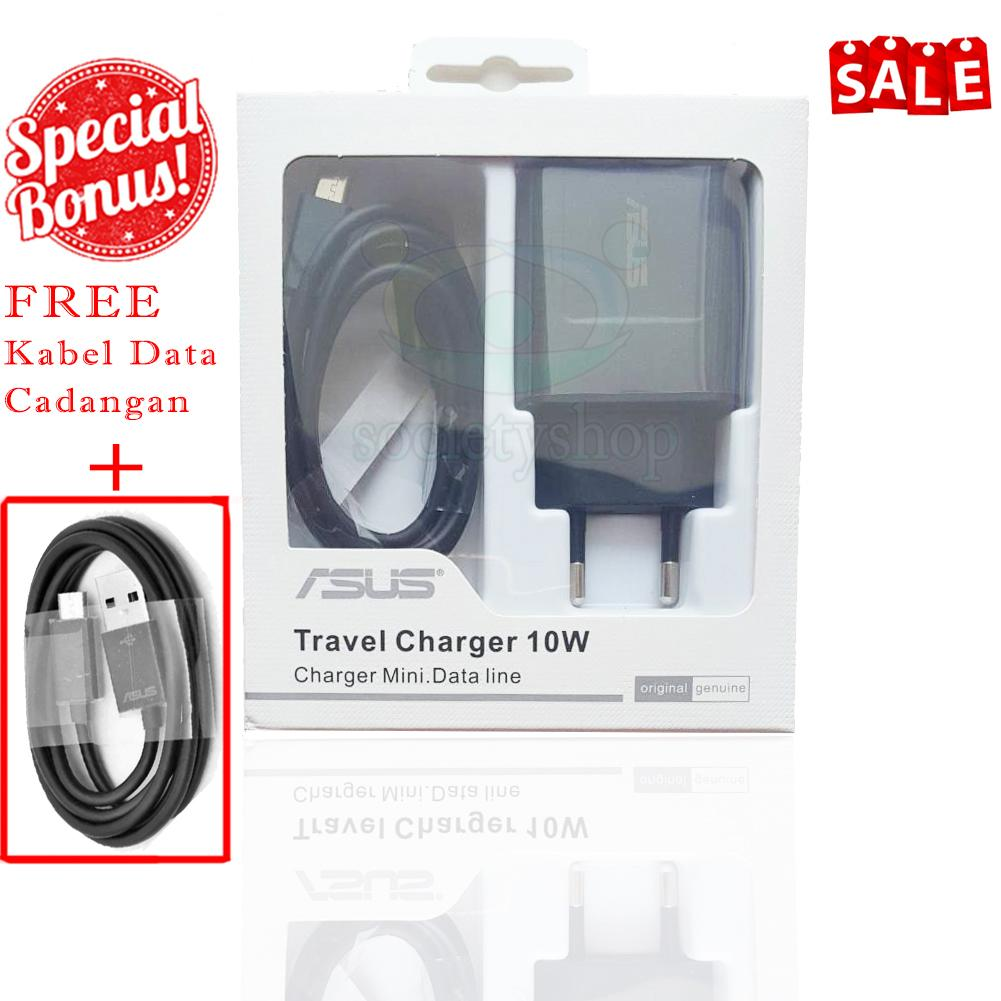 PROMO HEMAT ORIGINAL Charger Asus Zenfone 2A - Carger Hp Casan Ori Cas Smartphone Selfie 2 3 4 5 Laser Go Zoom Pro Live bonus kabel data