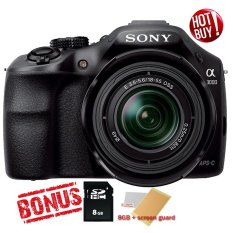 Jual Sony Alpha A3000 20 1Mp Lensa Kit 18 55Mm 8Gb Sdhc Hitam Sony Branded
