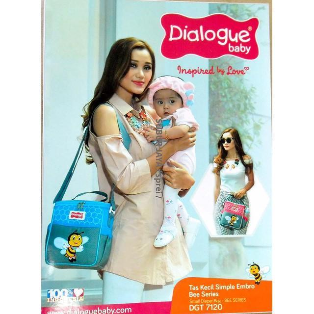 Dialogue Baby Tas Perlengkapan Popok Diaper Bayi Kecil Simple Embro Bee Series - DGT7120