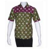 Harga Batik Solo Bo6004 Kemeja Batik Pria Motif Kawung Hijau Dan Spesifikasinya