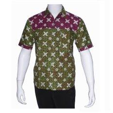 Harga Batik Solo Bo6004 Kemeja Batik Pria Motif Kawung Hijau Batik Solo Indonesia