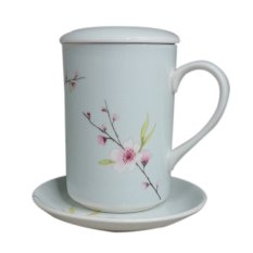 St James Mug Set Blossom Blue 325 Ml St James Diskon