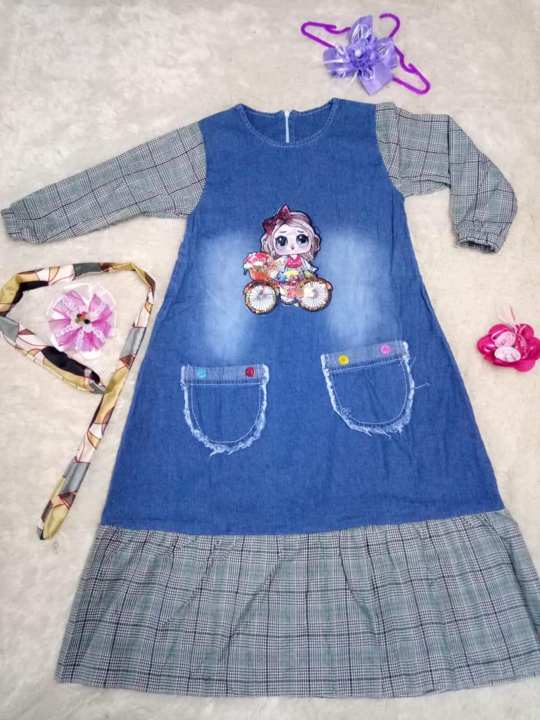 TERBARU....HALWA Maxi Kids Dark Jeans   Baju Gamis Anak Perempuan 2 - 16 Tahun Bahan Jeans Berkualitas   Baju Muslim Anak   Long Dress Anak   Gamis Jeans Wanita   Baju dan Dress Anak dan Remaja Kekinian   Baju Gamis Cewek   Baju Anak Murah