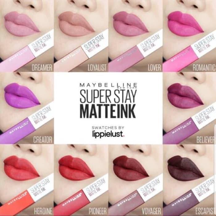 Maybelline Superstay Matte Ink Lipstick - Super Stay Matte Ink Lip Cream Tahan Lama 16 Jam By Beauty Lover.