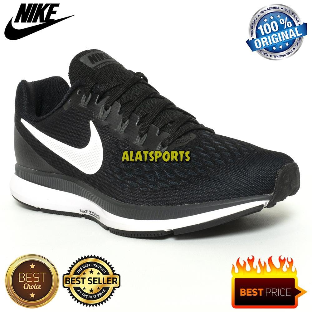 4228932d9c2 Sepatu Running Wanita Nike Womens Air Pegasus 34 880560-001 - Black ORIGINAL