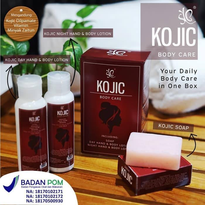 Kojic Body Care Paket Pemutih Badan 3 In 1 Syb Whitening Body Care Bpom Lotion Pelembab Siang Malam Dan Sabun Scrub By Cds.