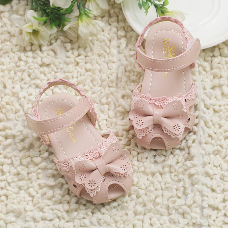 5b62c1869a6 Baby Sandals Toddler Shoes Girls Anti-slip Soft Bottom Baby Shoes  Closed-toe Anti