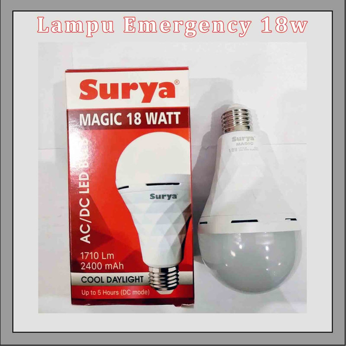 Nanashop08 Lampu Surya Magic 18 Watt Lampu Emergency Ac Dc Lazada Indonesia
