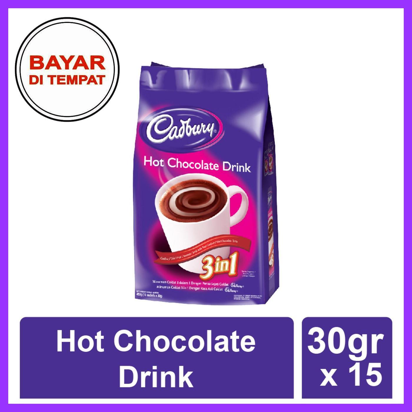 Minuman Nutrisi /produk Original / Minuman Import / Minuman Cokelat / Cadbury Hot Chocolate 3 In 1 / 15 Sachets By Toserbashop18.