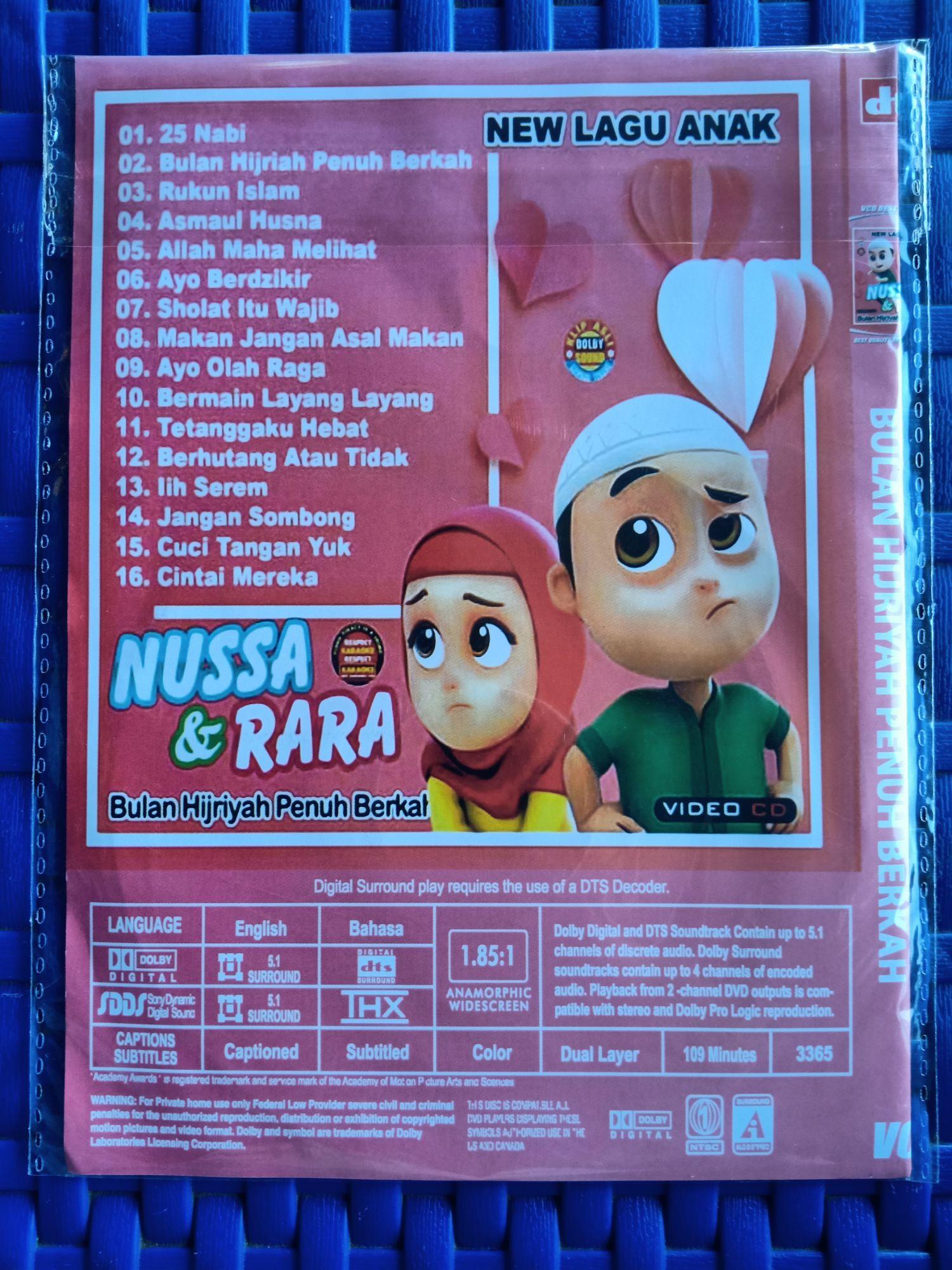 KASET VIDEO CD DVD LAGU ANAK ANAK TERBARU NUSA & RARA   Lazada ...