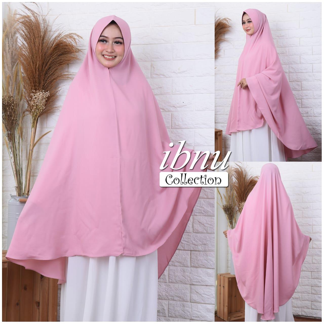 ibnu collection/jilbab syari 10 layer jumbo/khimar syar i jumbo/hijab  syari/kerudung instan jumbo terlaris dan termurah