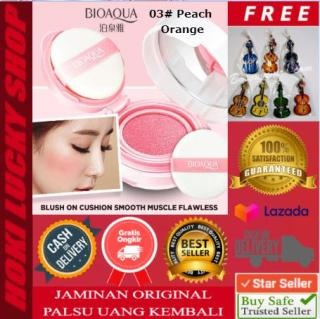 LUCKY COD - Bioaqua Blush On Air Cushion Smooth Muscle Flawless 03 Peach Orange + FREE Gantungan Kunci Lucu 1 Pcs thumbnail