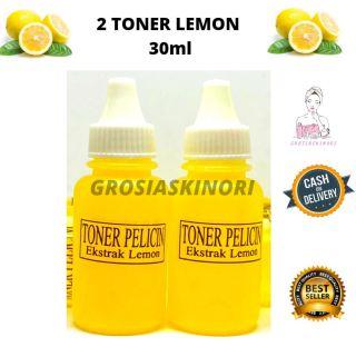 2 pcs Toner Lemon 30 ml Wajah Kinclong Bersih Pelicin BEST SELLER BY GROSIASKINORI harga reseller thumbnail