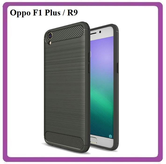 Soft Case Oppo F1 Plus R9 TPU Shockproof Ipaky Carbon Original