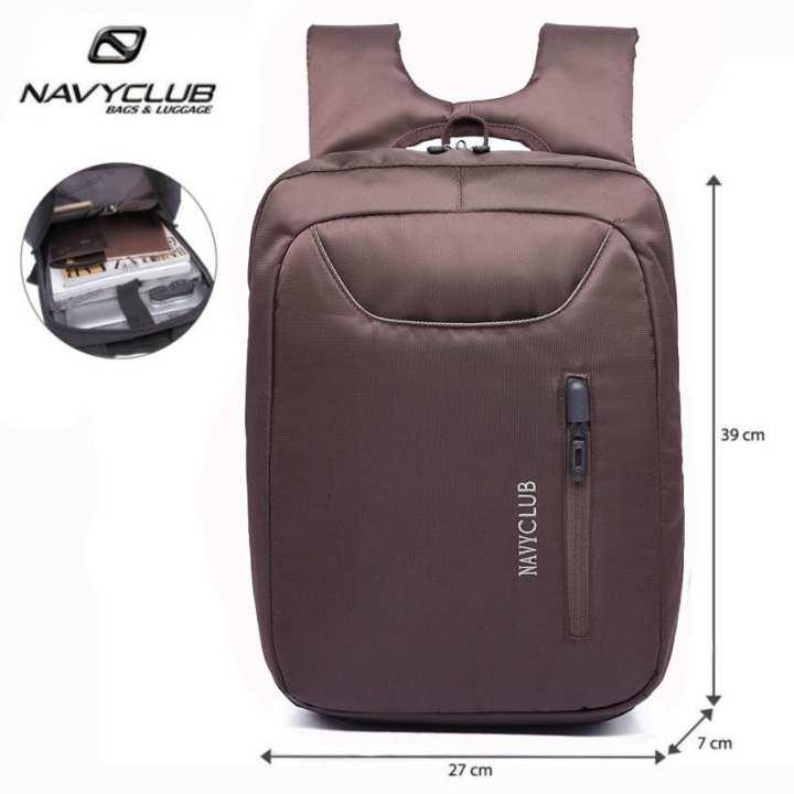 Navy Club Tas Ransel Laptop Tahan Air - Tas Pria Tas