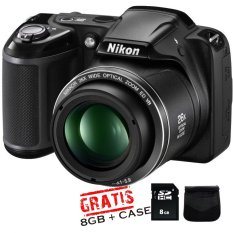 Harga Nikon Coolpix L330 Sdhc 8Gb Tas Anti Gores Lcd Hitam Satu Set