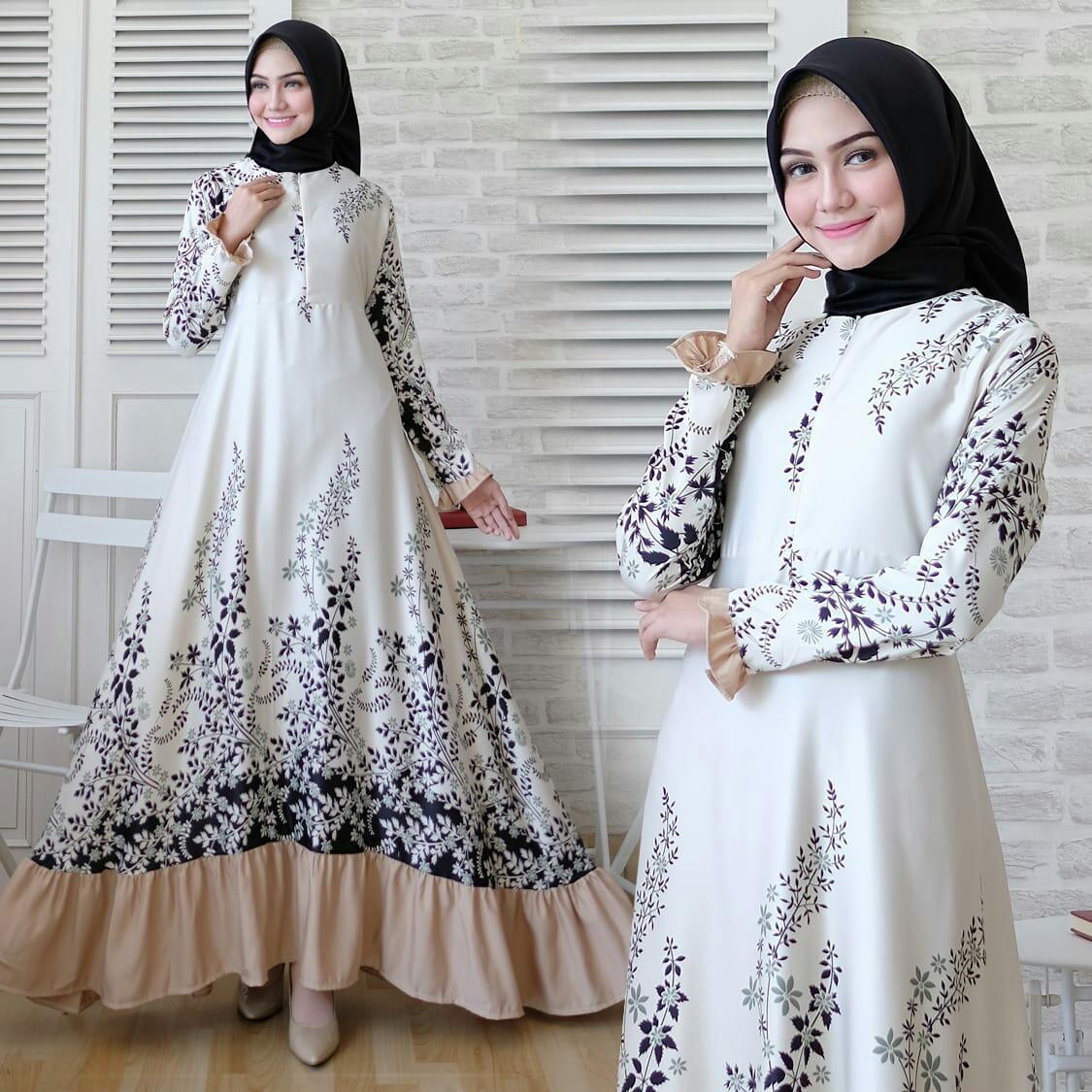 trendshopee Pakaian Muslim Wanita Gamis Maxy Rachel Ukuran Jumbo
