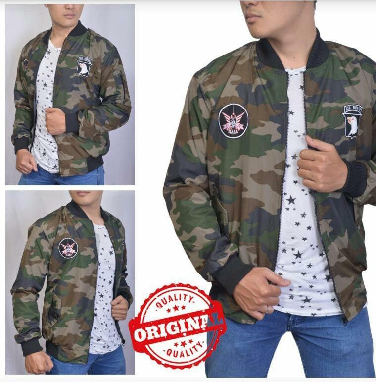Hc - jaket BOMBER air Borne premium- jaket cowok jeans - jaket pria - blazer e27708f247