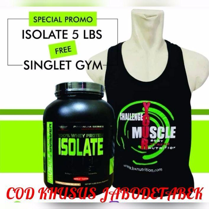 Bxn Whey Protein Isolate 5lb Rasa Strawberry Free Singlet Gym /smart Shakker By Mhartine_store.