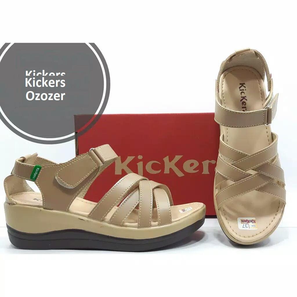 Sandal Sepatu Wedges Kickers Wanita Kickers Ozozer-39 0bde8564f6