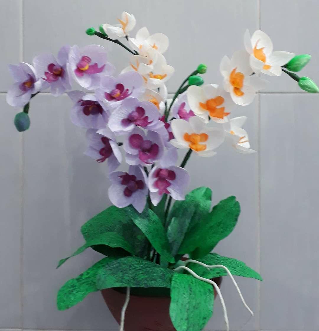 Bunga Daun Anggrek Plastik Kresek Lazada Indonesia