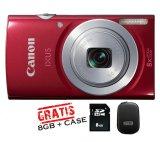 Harga Canon Ixus 145 16Mp 8X Zoom Merah Baru
