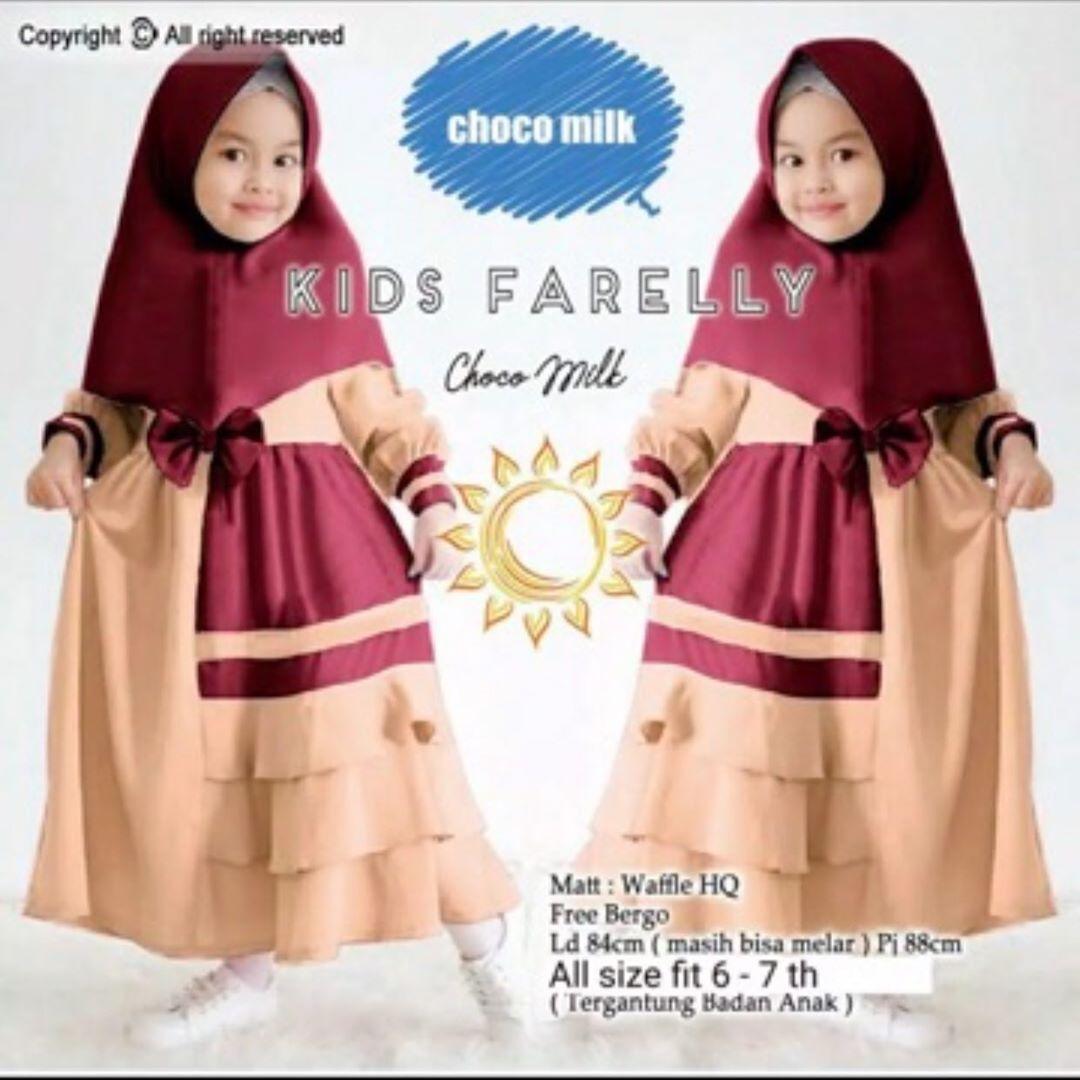 Gamis Kids Farelly Free Khimar Baju Muslim Anak Baju Anak Perempuan Gamis Anak Anak Lazada Indonesia