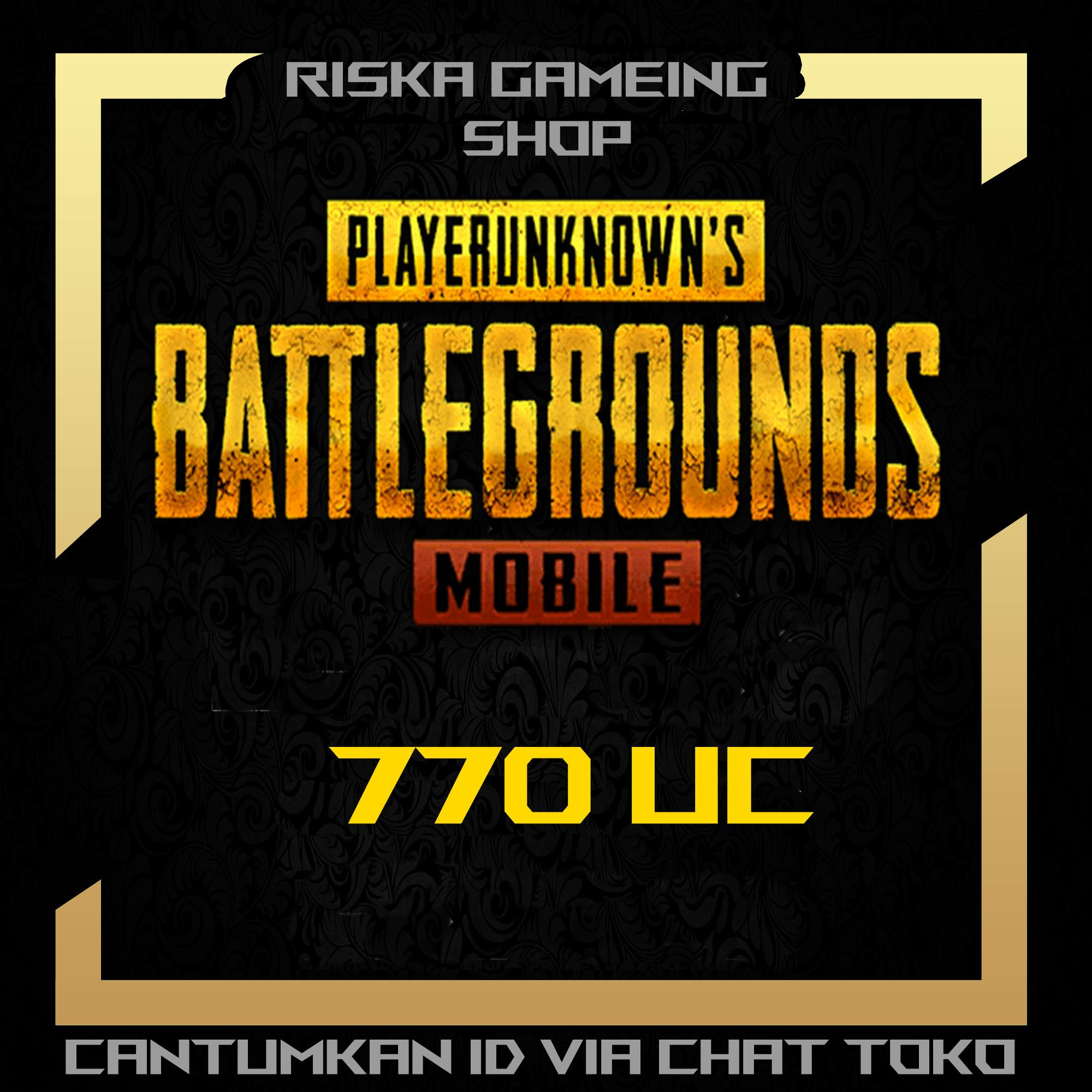 PlayerUnknown's Battlegrounds (PUBG) Mobile 770 UC Cash - Legal Via ID