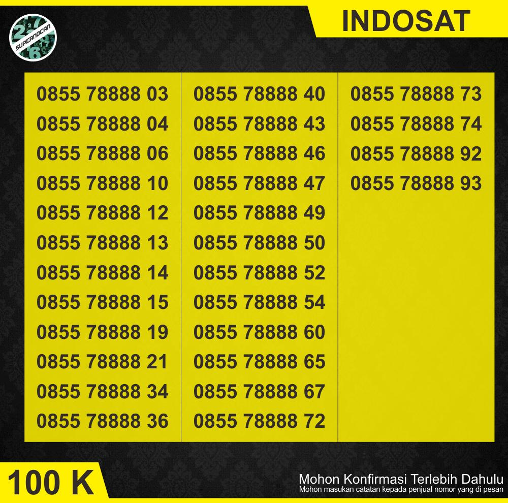 Nomor Cantik Indosat Im3 11 Digit Kuartet 8IDR100,000