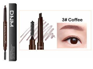 DNM 2 in 1 Eyebrow Pencil Waterproof Automatic Rotating Squeeze pencil with Brush Eye Brow Tint Pensil Alis thumbnail