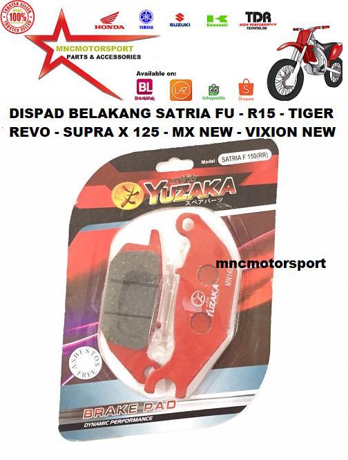 Discpad Dispad Disc Pad Kanvas Kampas Kain Rem Belakang Rr Satria Fu R15 Tiger Revo Supra X 125 Jupiter Mx New Vixion New Yuzaka By Mncmotorsport.