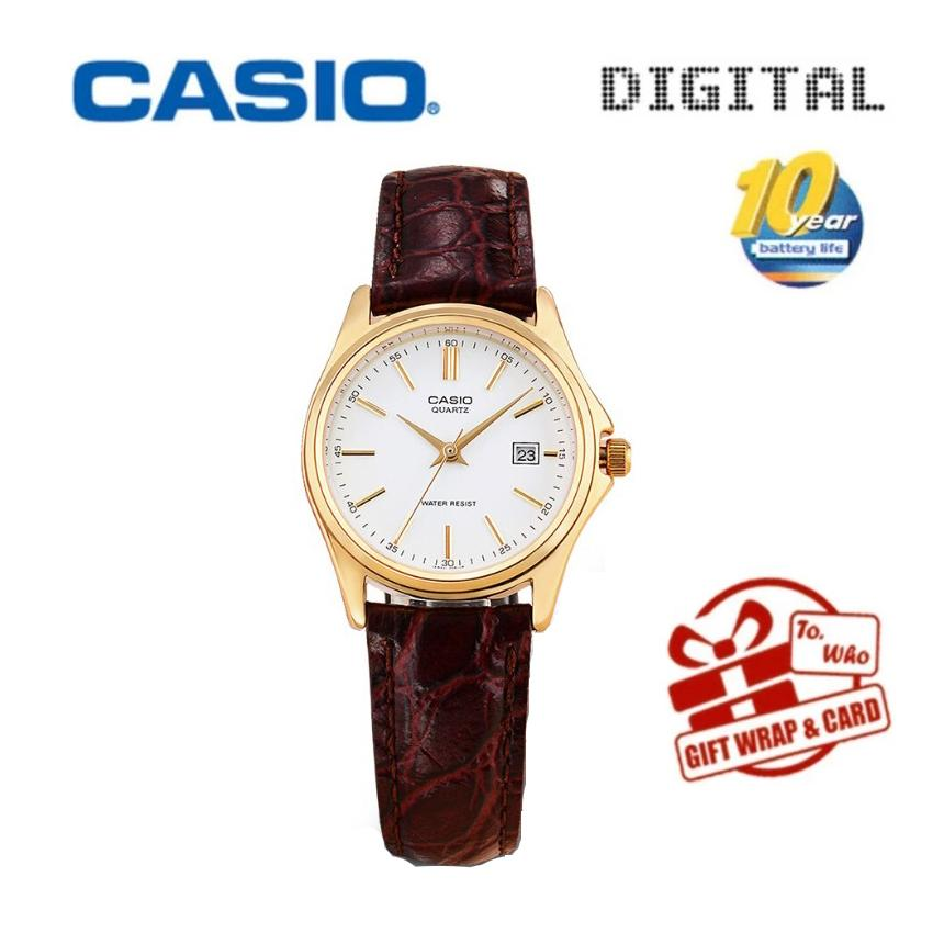 Casio Jam Tangan Mewah Merek Tanggal LTP-1183A-7A Kuarsa Pergelangan Tangan Jam Tangan