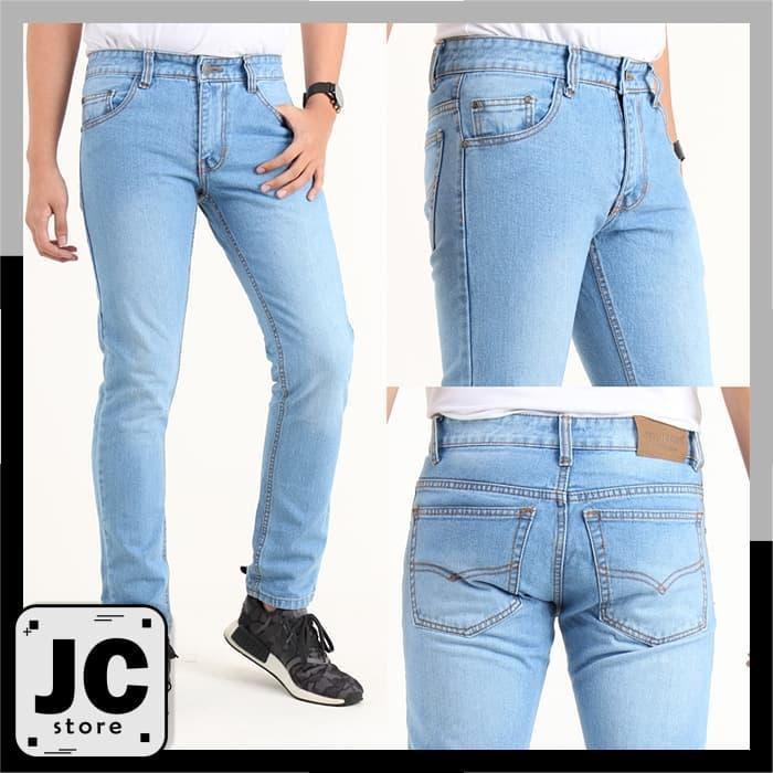 Rp 85.000 nusantara_jeans Celana Pria Skinny Celana Pensil Denim ...