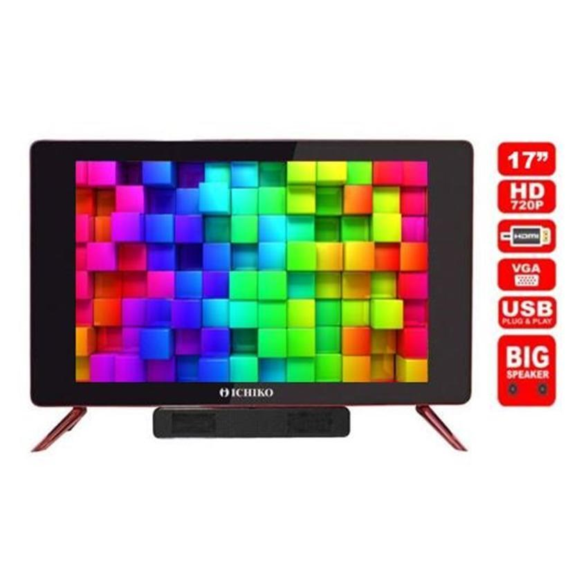 Ichiko LED TV 17 inch - USB Plug & Play - HDMI (Model S1719)