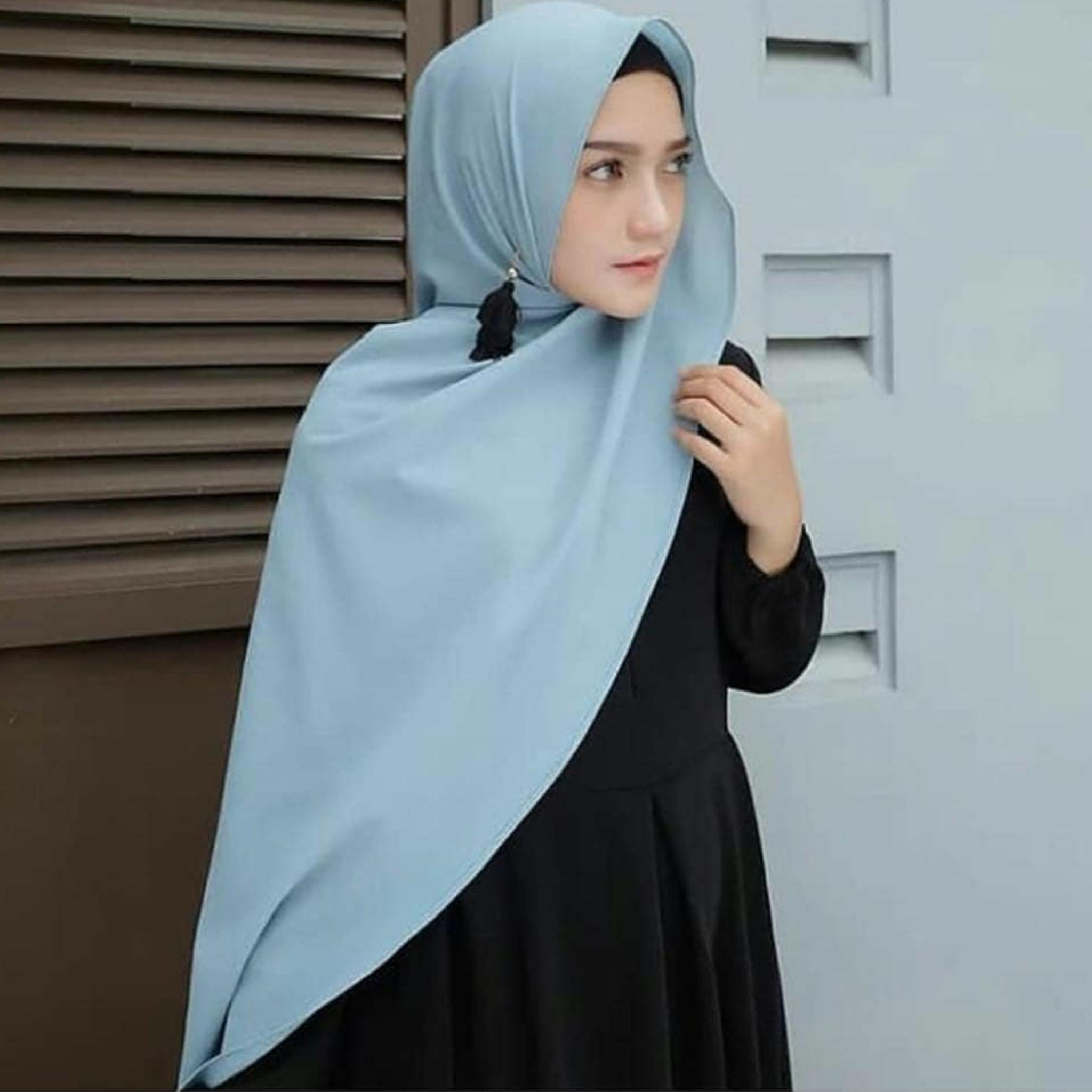 Jilbab Pashmina SABYAN DIAMOND 200x75  Italiano Stretch Panjang