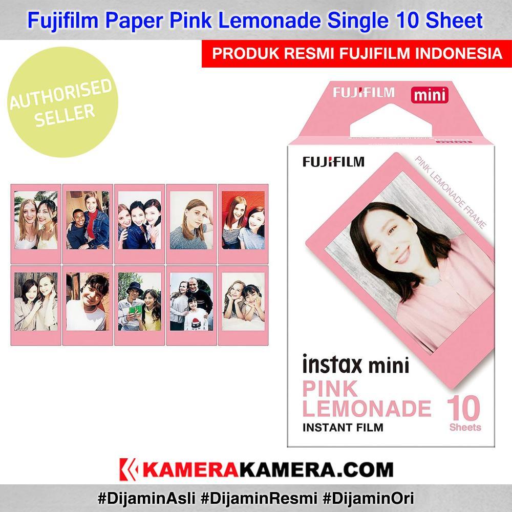 Fujifilm Instax Paper Pink Lemonade Motif Single 10 Sheet Original By Kamerakamera.