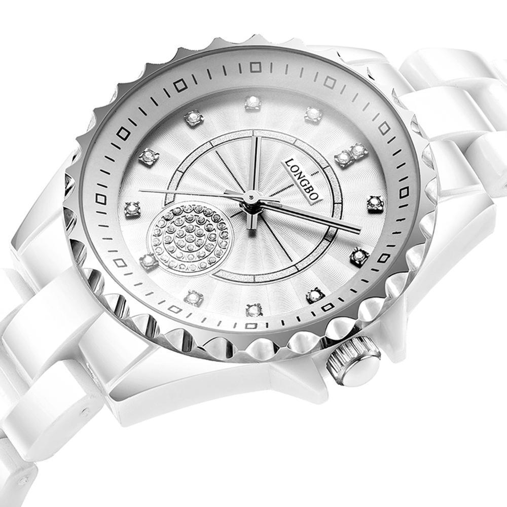 Longbo 80027 Jam Tangan Wanita Casual Bisnis Analog Quartz Keramik 33 mm - Anti Air 30 M - Water Resistant Fashion Watches