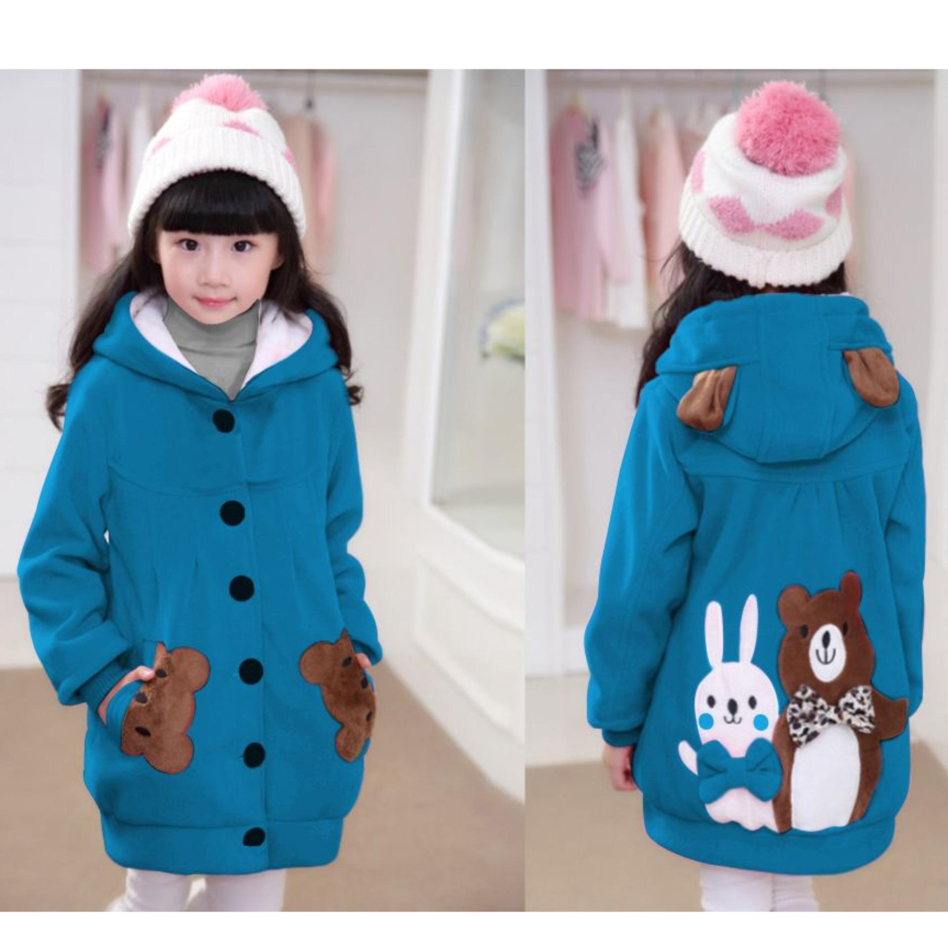 Vrichel Collection - Jaket / Hoddie Anak Perempuan Bear & Bunny By Vrichel Collection.