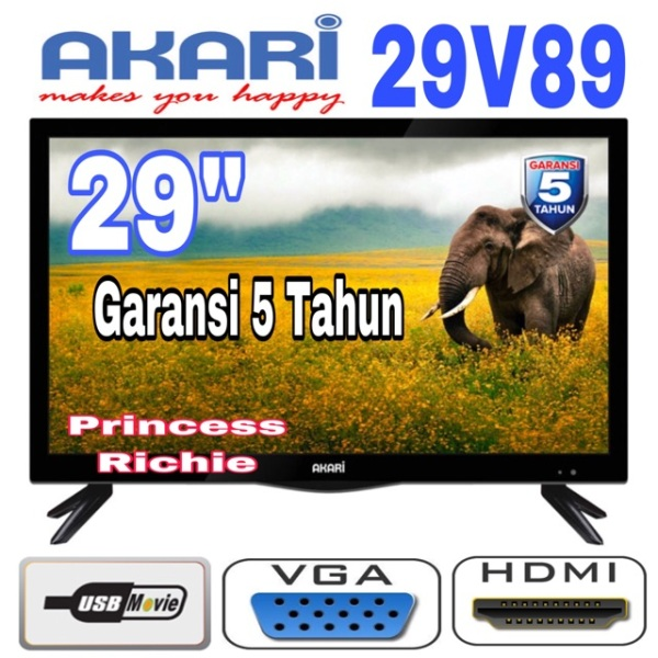 Akari led tv 29 inch usb movie garansi 5 Tahun