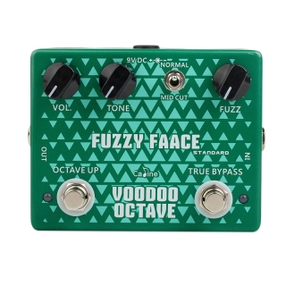 CALINE CP-53 Guitar Pedal Fuzzy Face Guitar Effect Pedal Aluminum Alloy Housing Pedal with True Bypass Design thumbnail