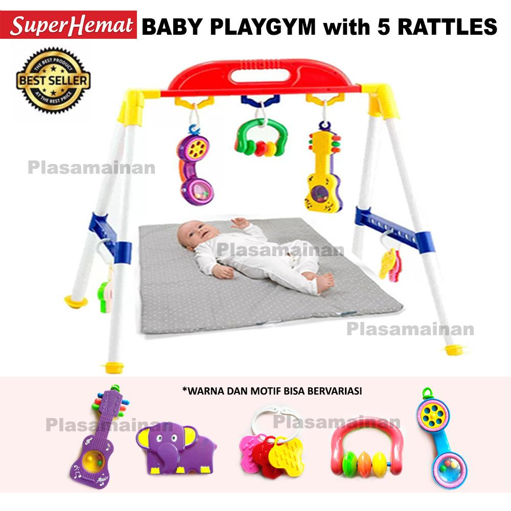 MOMO Toys Mainan Anak Activity Rattle Playgym 209 AB - Mainan Baby Rattle Play  Gym 14d0785aea