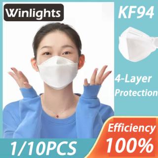 Đèn Nháy 1 10PCS KF94 Trắng Miệng Mặt Tấm Khiên Chống Bụi Sương Mù-Proof Và, Tấm Bảo Vệ Mặt Thoáng Khí thumbnail