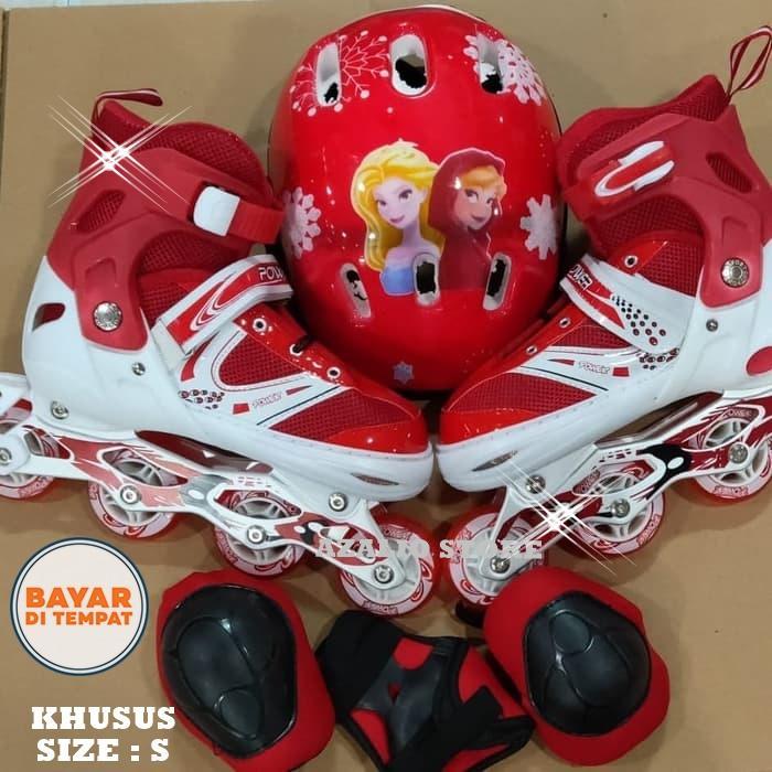 Azalio Store Murah Dan Berkualitas Inline Skate Sepatu Roda Full Set Deker Dan Helm By Azalio Store.