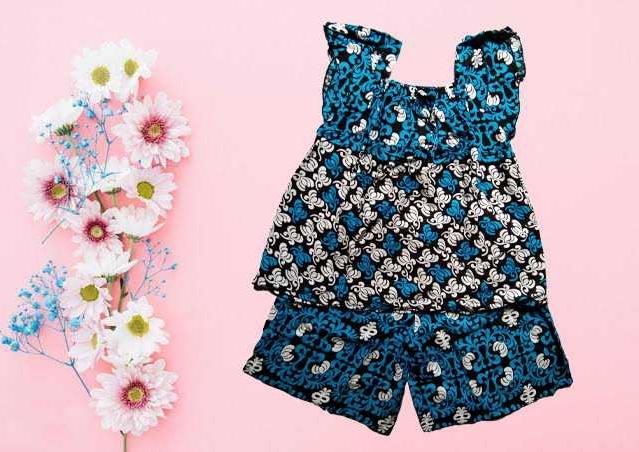 hotpant kekinian lucu / baju tidur motif batik klucu / baju tidur batik / baju tidur wanita