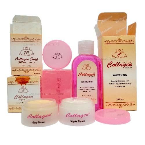 Paket Cream Collagen Original ( Cream Siang & Malam, Sabun, Toner ) By Silvia Beauty Collections.