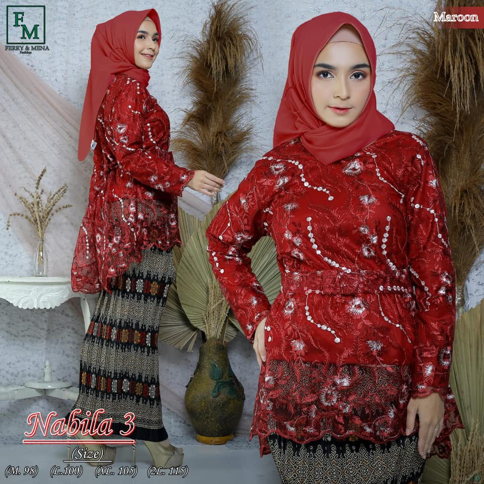 COD!!!!!Tile Jumbo nabila sampai LD 115 ,,,, stelan untuk Wisuda  / kebaya remaja modern / kebaya pesta bigsize bahan tile bordir Mutiara / Kebaya wisuda ukuran jumbo/kebaya hijab modis cantik/kebaya muslimah/kebaya pesta/kebaya keluarga/fashion